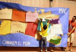 """Performance """"Junts canviarem el món"""""""